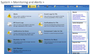 Unisphere Monitoring Page