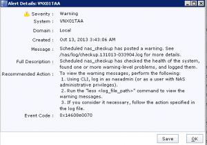 Unisphere Alert Details