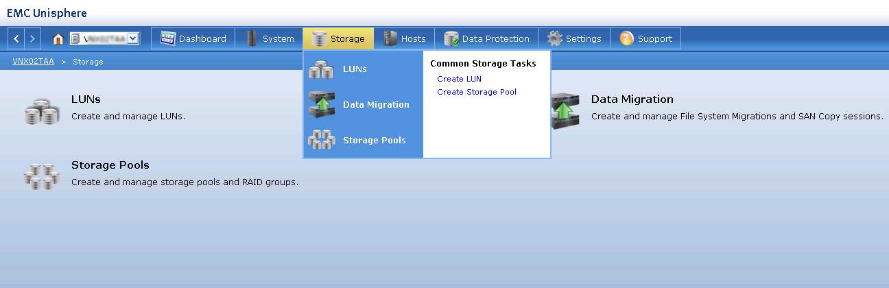 Create a LUN in EMC VNX