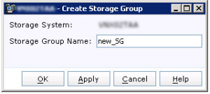 Create Storage Group