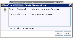 new Storage Group